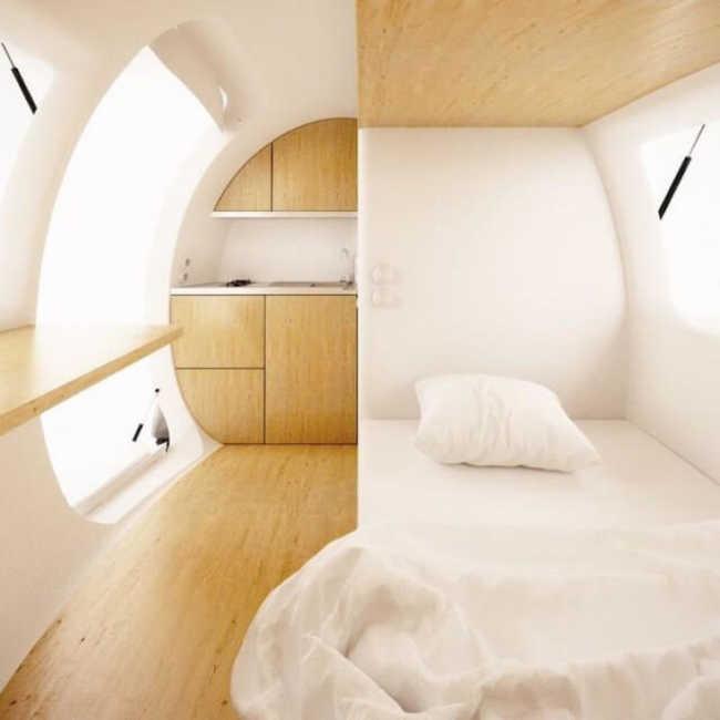 Interior da cápsula habitável