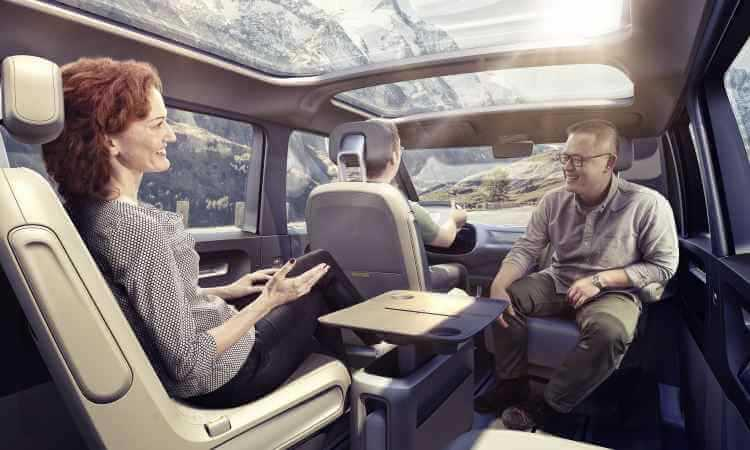 Interior da Volkswagen Kombi I.D. Buzz
