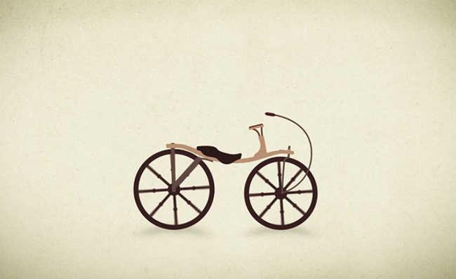 Ilustração de uma bicicleta