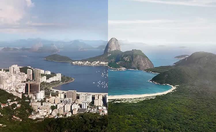 Rio de Janeiro sem ocupação urbana