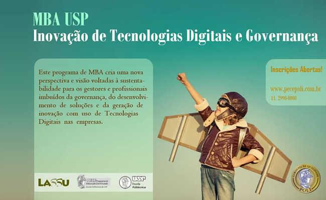 USP oferece MBA em Governança e Inovação de Tecnologias com Sustentabilidade