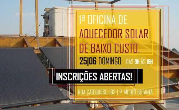Oficina ensina fazer aquecedor solar de baixo custo