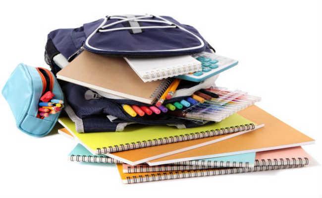Recicle o material escolar