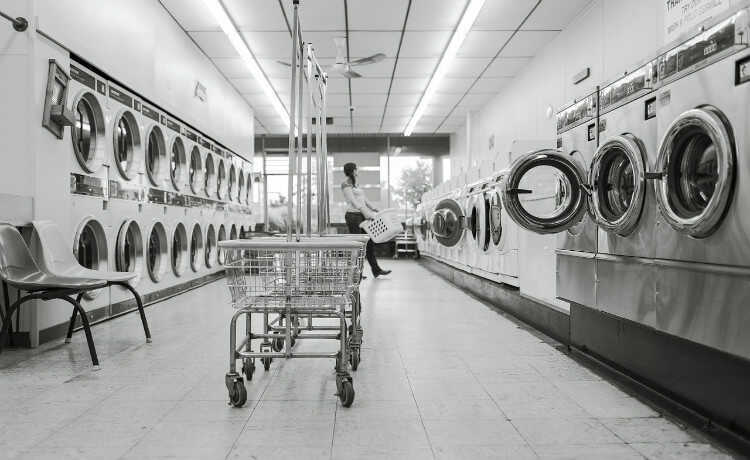 máquina secadora de roupas
